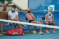 18th July 2020, Cannes, France;   Quentin Halys France - Kristina Mladenovic France - Fiona Ferro France at the Challenge Elite FFT tournament