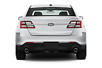 Straight rear view of a 2017 Ford Taurus LTD