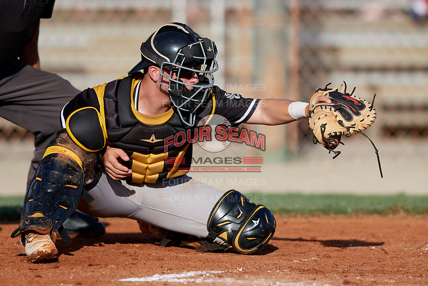 Cooper Ingle during the WWBA World Championship at the Roger Dean Complex on October 21, 2018 in Jupiter, Florida.  Cooper Ingle is a catcher from Asheville, North Carolina who attends A.C. Reynolds High School and is committed to Clemson.  (Mike Janes/Four Seam Images)