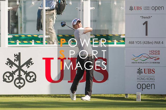 Chan Shih-chang of Taiwan tees off the first hole during the 58th UBS Hong Kong Open as part of the European Tour on 08 December 2016, at the Hong Kong Golf Club, Fanling, Hong Kong, China. Photo by Marcio Rodrigo Machado / Power Sport Images