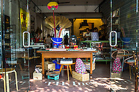 The entrance of Nala Designs in Bangsar, Kuala Lumpur, Malaysia, on 18 August 2015. Nala Designs, by founder and designer Lisette Scheers, is inspired by Malaysia's melting pot of Chinese, Malay and Indian cultures. Photo by Suzanne Lee for Monocle