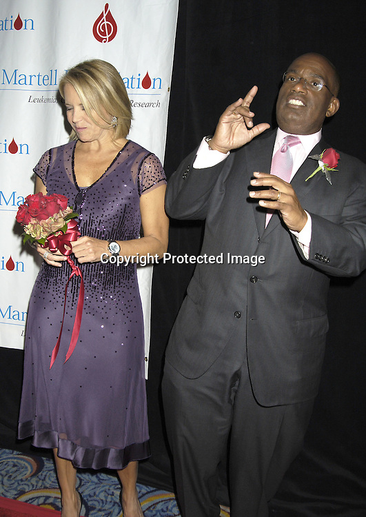 Katie Couric and Al Roker ..at The 30th Anniversary of the  TJ Martell Foundation Gala on October 6, 2005 at The Marriott Marquis Hotel. ..Photo by Robin Platzer, Twin Images