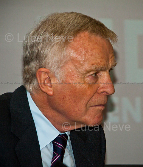 Max Mosley (former president of Formula One).<br /> <br /> London, 28/06/2011. A parterre de roi for this meeting organised by LSE (London School Of Economics) to discuss gagging orders, tabloid intrusion, and the right to privacy and a private life. The speakers included: George Gaskell (Pro-Director of LSE and Professor of Social Psychology), Suzanne Moore (award-winning columnist for the Guardian and the Mail on Sunday), Max Mosley (former president of Formula One), David Price (QC, founder of London media law firm David Price Solicitors &amp; Advocates), Hugh Tomlinson (QC of Matrix Chambers, specialist in media and information law including defamation, confidence, privacy and data protection). Chair of the event was Jo Glanville (editor of Index on Censorship and member of the Ministry of Justice working party on libel reform).