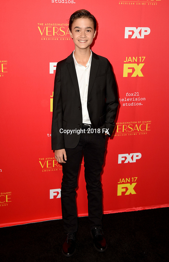 "HOLLYWOOD - JANUARY 8: Edouard Holdener attends the Red Carpet Premiere Event for FX's ""The Assassination of Gianni Versace: American Crime Story"" at ArcLight Hollywood on January 8, 2018, in Hollywood, California. (Photo by Scott Kirkland/FX/PictureGroup)"