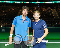 ABN AMRO World Tennis Tournament, Rotterdam, The Netherlands, 16 Februari, 2017, Robin Haase (NED), David Goffin (BEL)<br /> Photo: Henk Koster