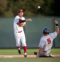 STANFORD, CA - May 10, 2011: Lonnie Kauppila of Stanford baseball turns two during Stanford's game against Arizona at Sunken Diamond. Stanford won 1-0.