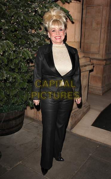 BARBARA WINDSOR.Christopher Biggins' 60th Birthday Party at the Landmark Hotel, Marylebone, London, England..December 15th, 2008.full length black shiny suit jacket trousers gold top.CAP/ROS.©Steve Ross/Capital Pictures.