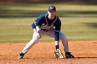 Third baseman Griffin Wise #22 of the Catawba Indians on defense versus the Shippensburg Red Raiders on February 14, 2010 in Salisbury, North Carolina.  Photo by Brian Westerholt / Four Seam Images