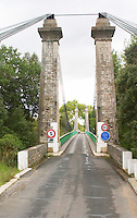 Bridge across the l'Herault river near Gignac in the Montpeyroux district. Languedoc. France. Europe.