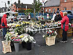 A flower stall in the Drogheda Market. Photo:Colin Bell/pressphotos.ie