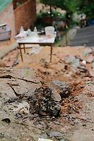 MANAUS, AM, 10.01.2019: DESABAMENTO-MANAUS - A parede de uma casa desabou, causando a morte de um adolescente de 14 anos, na manhã desta quinta-feira (10), na avenida serra alegre, bairro Terra Nova, na zona norte da cidade. <br /> (Foto: Sandro Pereira/Codigo19)
