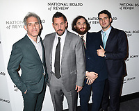 08 January 2020 - New York, New York - Ronald Bronstein, Adam Sandler, Josh Safdie and Benny Safdie at the National Board of Review Annual Awards Gala, held at Cipriani 42nd Street. Photo Credit: LJ Fotos/AdMedia