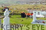 Well know Publican from Derrynane, Bridie Keating makes her final journey to the graveyard on Abbey Island in Derrynane.