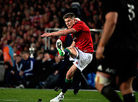 Owen Farrell kicks for goal during the 2017 DHL Lions Series rugby union 3rd test match between the NZ All Blacks and British & Irish Lions at Eden Park in Auckland, New Zealand on Saturday, 8 July 2017. Photo: Dave Lintott / lintottphoto.co.nz