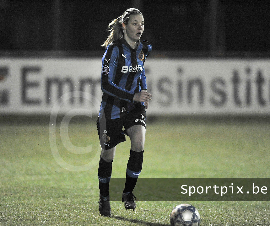Club Brugge Dames - WB Sinaai Girls : Nicky Van Den Abbeele .foto DAVID CATRY / Vrouwenteam.be