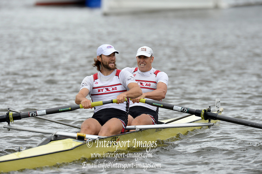 Henley, GREAT BRITAIN,  Silver Goblets and Nickalls' Challenge cup.  USA M2-, Bow Jamie KOVEN and Mike BLOMQUIST.  2012 Henley Royal Regatta. Friday  11:26:35  29/06/2012. [Mandatory Credit, Peter Spurrier/Intersport-images] ..Rowing Courses, Henley Reach, Henley, ENGLAND . HRR.