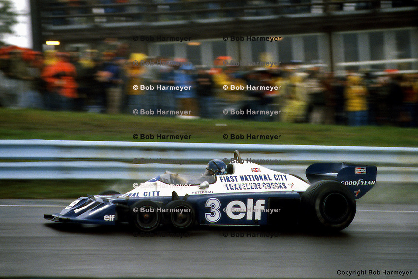 WATKINS GLEN, NY: Ronnie Peterson drives the Tyrrell P34 6/Ford Cosworth DFV during the United States Grand Prix East on October 2, 1977, at the Watkins Glen Grand Prix Race Course near Watkins Glen, New York.