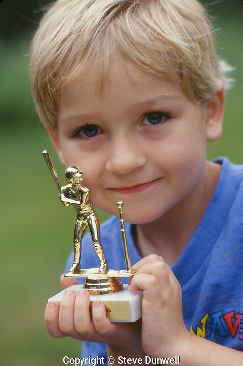 Davis, boy with baseball trophy, New Paltz, NY