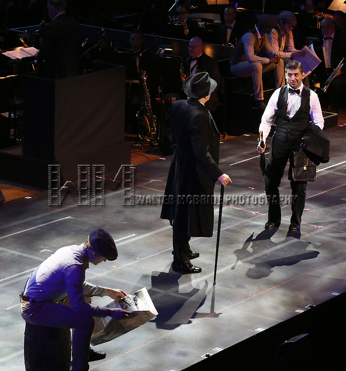 """Harry Groener and Tony Yazbeck during the Manhattan Concert Productions 25th Anniversary concert performance of """"Crazy for You"""" at David Geffen Hall, Lincoln Center on February 19, 2017 in New York City."""