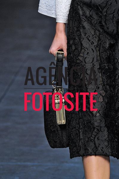 Milão, Itália – 24/02/2013 - Desfile de Dolce & Gabbana durante o Milano Fashion Week  -  Inverno 2013. <br /> Foto: Firstview/FOTOSITE