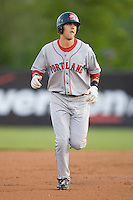 Reid Engel #31 of the Portland Sea Dogs rounds the bases after hitting a home run at Waterfront Park May 12, 2009 in Trenton, New Jersey. (Photo by Brian Westerholt / Four Seam Images)
