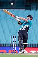 13th March 2020, Sydney Cricket Ground, Sydney, Australia;  Henry Nicholls of the Blackcaps looks to hook. International One Day Cricket. Australia versus New Zealand Blackcaps, Chappell–Hadlee Trophy, Game 1.