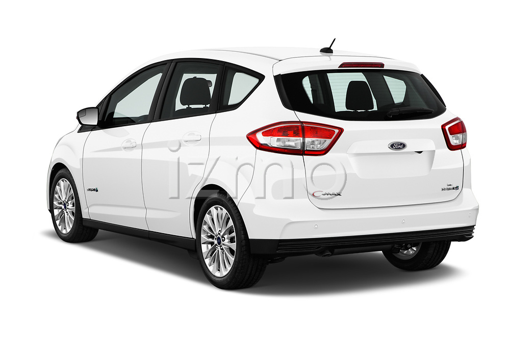 Car pictures of rear three quarter view of 2017 Ford C-Max SE-Hybrid 5 Door Mini MPV Angular Rear