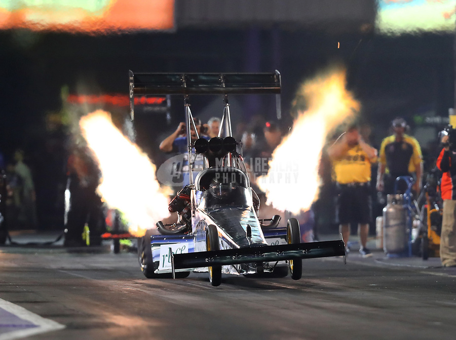 Apr 21, 2017; Baytown, TX, USA; NHRA top fuel driver Terry Haddock during qualifying for the Springnationals at Royal Purple Raceway. Mandatory Credit: Mark J. Rebilas-USA TODAY Sports