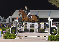 WELLINGTION, FL - MARCH 09: SATURDAY NIGHT LIGHTS: Georgina Bloomberg participates The highlight event of week 9 at the 2019 Winter Equestrian Festival, the $391,000 Douglas Elliman Real Estate Grand Prix CSI 5*. The Winter Equestrian Festival (WEF) is the largest, longest running hunter/jumper equestrian event in the world held at the Palm Beach International Equestrian Center on March 09, 2019  in Wellington, Florida.<br /> CAP/MPI122<br /> &copy;MPI122/Capital Pictures