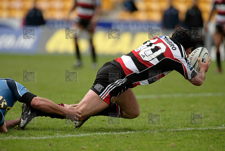 Blair Feeney scores his second half try. Air NZ Cup week 4 game between the Counties Manukau Steelers and Northland played at Mt Smart Stadium on the 19th of August 2006. Northland won 21 - 17.