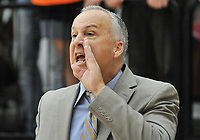 Brian Newhall, Head Men's Basketball Coach<br /> The Occidental College men's basketball team plays against Claremont-Mudd-Scripps in the SCIAC Semi Final game on Friday, January 22, 2019 in Claremont.<br /> Oxy won, 64-62 in overtime and will go on to the final championship against Pomona-Pitzer on Saturday.<br /> (Photo by John Valenzuela, Freelance Photographer)
