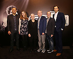 Fred Johanson, Siobhan Dillon, Glenn Close, Andrew Lloyd Webber, Lonny price and Michael Xavier attend the 'Sunset Boulevard' Broadway Cast Photocall at The Palace Theatre on January 25, 2017 in New York City.