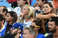 Fanny Neguesha fidanzata di Mario Balotelli, Valentina Baldini fidanzata di Andrea Pirlo, Alena Seredova moglie di Gianluigi Buffon <br /> Natal (Brasile) 24-06-2014 Estadio Das Dunas. Group D  Italy - Uruguay / Italia - Uruguay . Football 2014 Fifa World Cup Brazil - Campionato del Mondo di Calcio  Brasile 2014 <br /> Foto Insidefoto