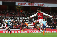 Tyreece John-Jules of Arsenal takes a shot at the Blackpool goal during Arsenal Youth vs Blackpool Youth, FA Youth Cup Football at the Emirates Stadium on 16th April 2018