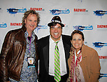 Dale Badway sings and hosts New Year's Eve 2016 and Times Square Ball Drop and poses with guests from Australia Andrew Kirby at The Copacabana, New York City, New York. (Photo by Sue Coflin/Max Photos)  suemax13@optonline.net