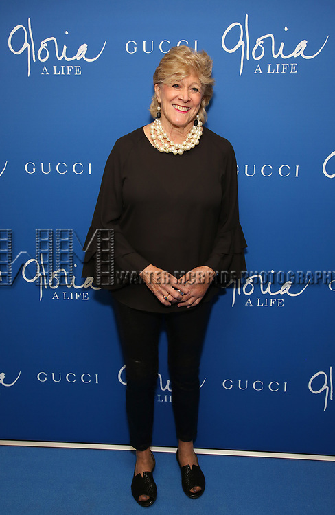 "Lynn Sherr attends the Opening Night Performance of ""Gloria: A Life"" on October 18, 2018 at the Daryl Roth Theatre in New York City."