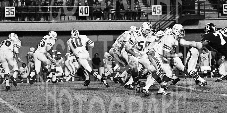 Montreal Alouettes 1972. Photo Ted Grant