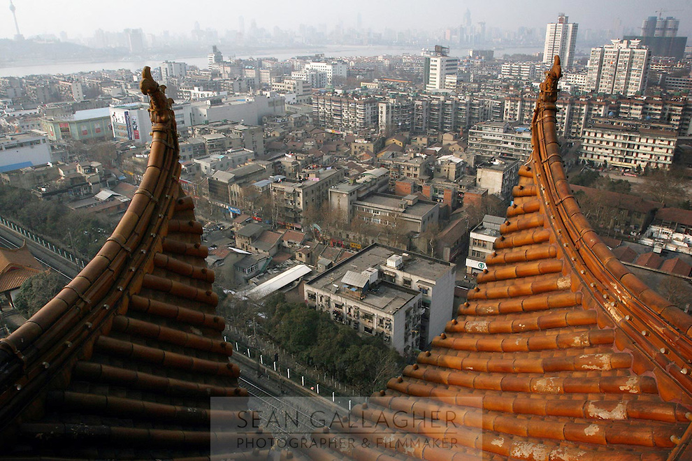 A view of Wuhan from The Yellow Crane Tower which looks over the city of Wuhan.<br /> <br /> To license this image, please contact the National Geographic Creative Collection:<br /> <br /> Image ID:  1933617<br />  <br /> Email: natgeocreative@ngs.org<br /> <br /> Telephone: 202 857 7537 / Toll Free 800 434 2244<br /> <br /> National Geographic Creative<br /> 1145 17th St NW, Washington DC 20036