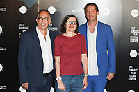 John Cooper, Claire Binns &amp; Trevor Groth (Festival Organisers) at the Sundance Film Festival: London opening photocall at Picturehouse Central, London.<br /> 01 June  2017<br /> Picture: Steve Vas/Featureflash/SilverHub 0208 004 5359 sales@silverhubmedia.com