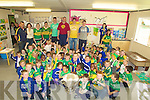 JUNIOR: Junior Infants of CBS Clounalour School, Tralee got to see the Sam Maguire Cup on Friday in their Class room.