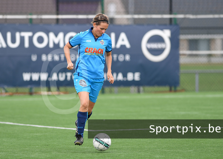 20191005  -  Diksmuide , BELGIUM : FWDM's Sarah Verschaeve pictured during a footballgame between the womensoccer teams from Famkes Westhoek Diksmuide Merkem and KV Mechelen Ladies A , on the 5th matchday in the first division , 1e nationale , in Diksmuide - Belgium - saturday 5th october 2019 . PHOTO DAVID CATRY | Sportpix.be