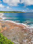 View along the coastline from Matavai Resort on the island of Niue