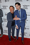 Actors Billy Crystal (left) and Ben Schwartz arrive at the world premiere of Standing Up, Falling Down at the 2019 Tribeca Film Festival presented by AT&T Thursday, April 25, 2019 at SVA Theater - 333 West 23 Street New York, NY.