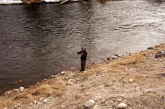 Catching a Whitefish on the Salmon River in Idaho