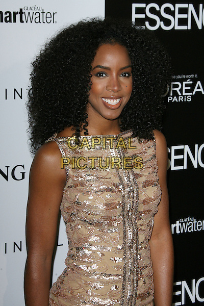 Kelly Rowland .5th Annual ESSENCE Black Women In Hollywood Luncheon held at the Beverly Hills Hotel, Beverly Hills, California, USA..February 23rd, 2012.half length beige gold sleeveless dress sequins sequined silver   .CAP/ADM.©AdMedia/Capital Pictures.