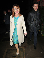 LONDON, ENGLAND - NOVEMBER 26: Kay Burley and guest at the Biltmore Hotel launch party, The Biltmore, Grosvenor Square on Tuesday 26 November 2019 in London, England, UK. <br /> CAP/CAN<br /> ©CAN/Capital Pictures