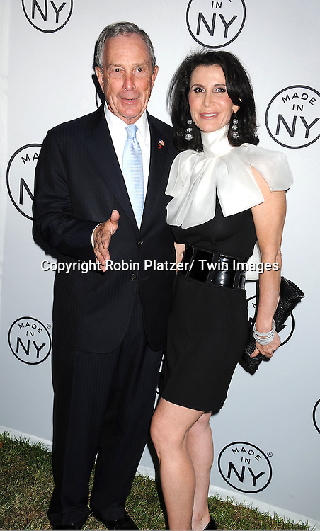 "Mayor Michael Bloomberg and Katherine Oliver attending The ""Made in NY"" Awards at Gracie Mansion.on June 6, 2011. Matt Damon, John Leguizammo and Lauren Zalaznick and Sidney Lumet were the honorees."