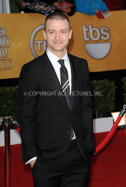 WWW.ACEPIXS.COM . . . . . ....January 30 2011, Los Angeles....Justin Timberlake arriving at the 17th Annual Screen Actors Guild Awards held at The Shrine Auditorium on January 30, 2011 in Los Angeles, CA....Please byline: PETER WEST - ACEPIXS.COM....Ace Pictures, Inc:  ..(212) 243-8787 or (646) 679 0430..e-mail: picturedesk@acepixs.com..web: http://www.acepixs.com