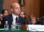 Elad L. Roisman testifies before the United States Senate Committee on Banking, Housing and Urban Affairs on his nomination to be a Member of the Securities and Exchange Commission (SEC) on Capitol Hill in Washington, DC on Tuesday, July 24, 2018.<br /> Credit: Ron Sachs / CNP