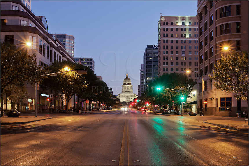 While I love the view of the Capitol from Congress Avenue, photographing this historic Texas building is not one of my favorite things to do when there is traffic. Thus, I try to capture these views in the early morning to avoid getting hit by a car!